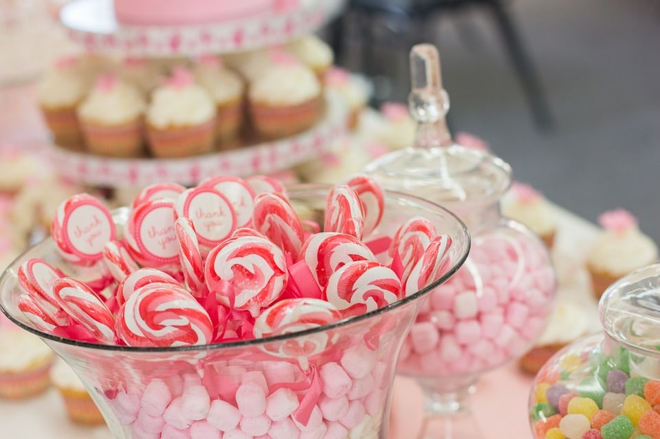 candy bar en tu boda
