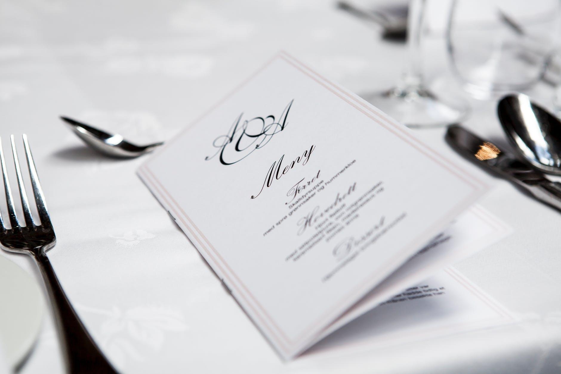 elegir el menú de boda